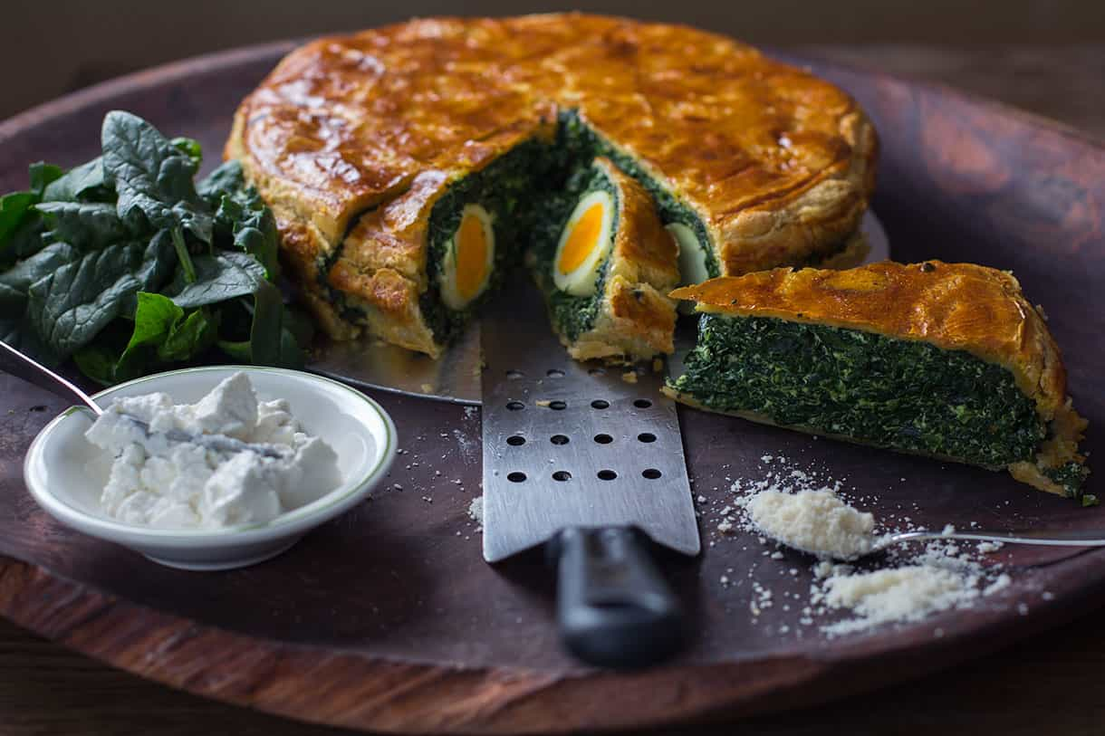 spinach and egg tart