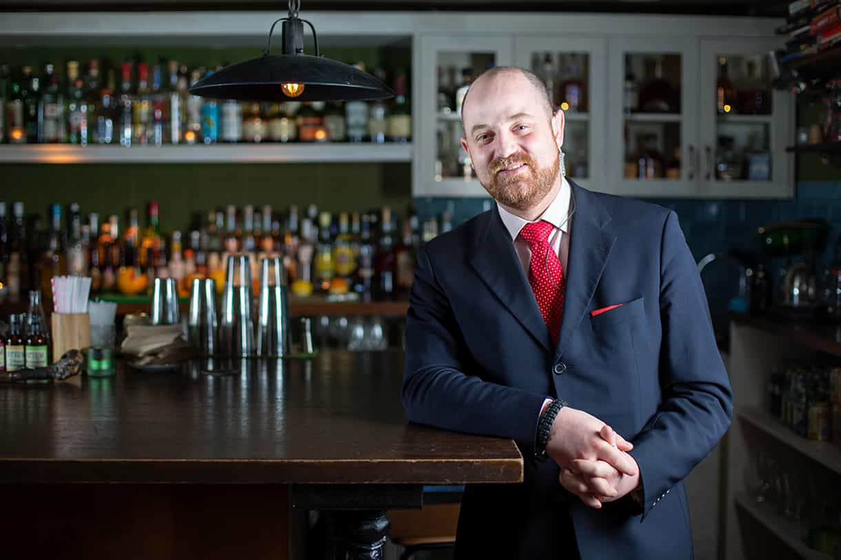 bar manager portrait