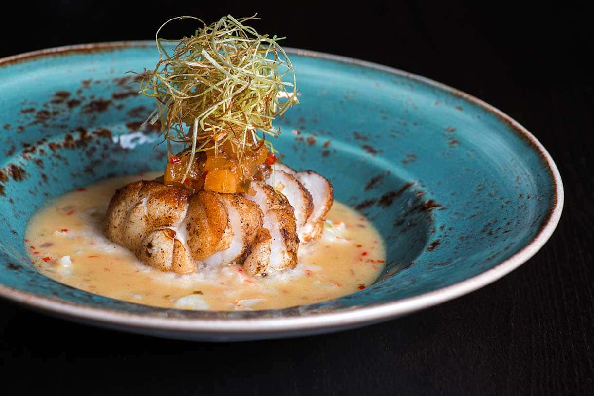 monkfish with sauce
