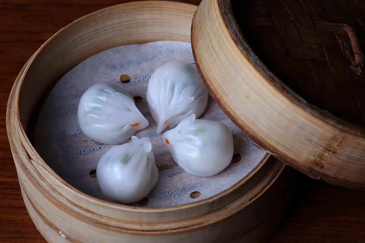 bunny shaped dim sums