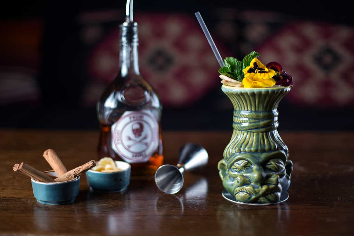 tiki exotic cocktail drink