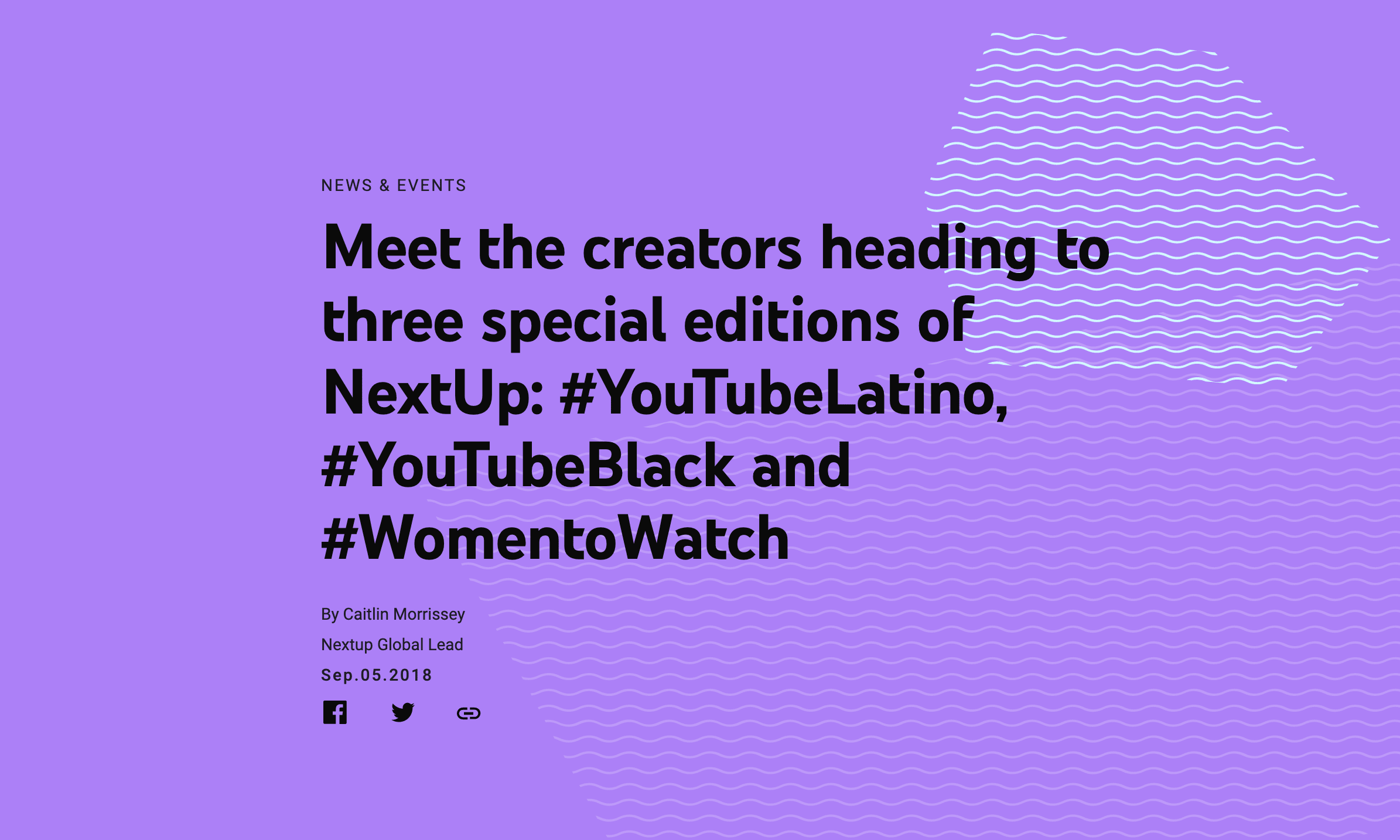 Meet the creators heading to three special editions of NextUp: #YouTubeLatino