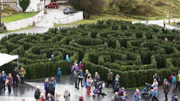 Illus. Labyrint ved Lønningen lystgård
