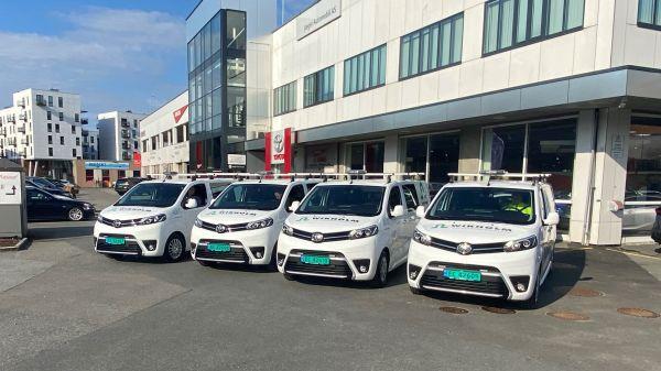 Illus. Vi utvider bilparken med 4 nye Toyota Proace
