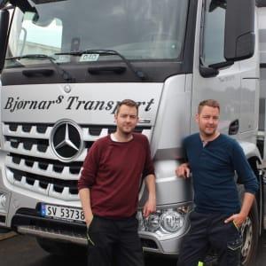 Glenn og Bjørnar Pedersen i Bjørnars Transport