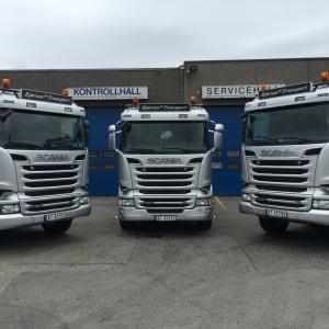 Scania lastebiler med sølv profilering