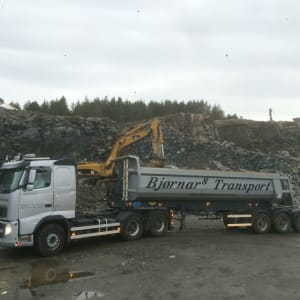 Tipp-semi. Massetransport i Øygarden.