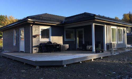 Prosjektbilde Enebolig levert på knappskog, Fjell kommune