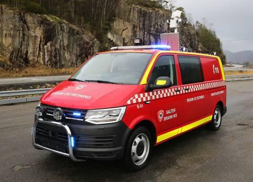 Illus: Innsatslederbil til Salten brann IKS