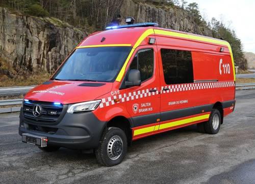 Illus: Salten Brann IKS med ny lett brannbil