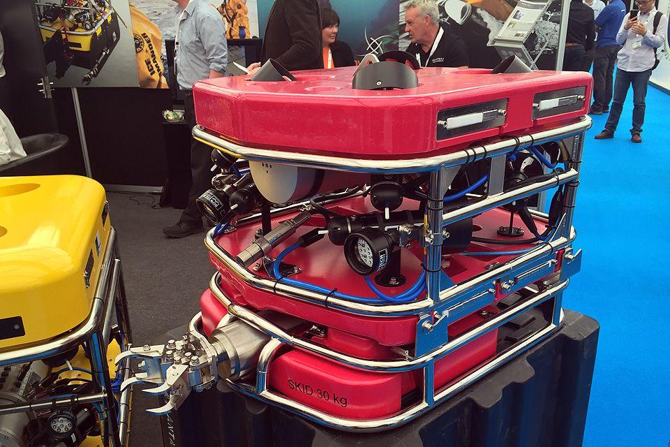 Det første ROV systemet Sellafield. Her utstilt på Ocean Business før levering.