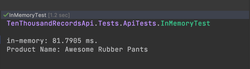 in-memory test using TestServer