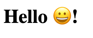 Emoji from background service in HTML