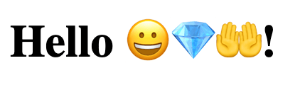 Emoji from background service in HTML updated