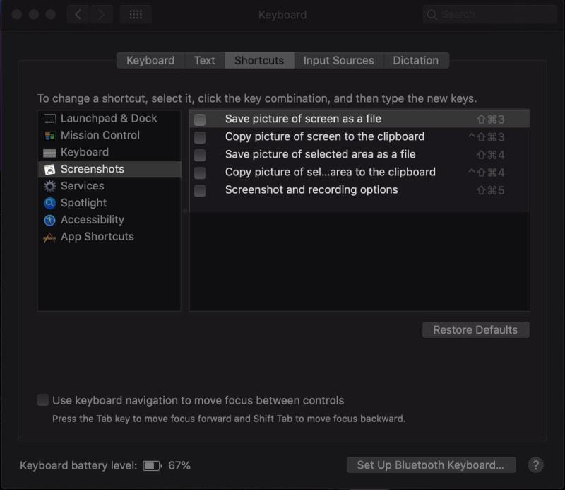 system preferences pane screenshots