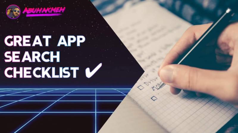 Great App Search Checklist