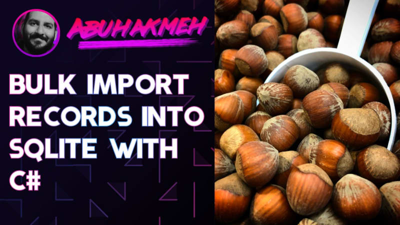 Bulk Import Records Into SQLite With C#