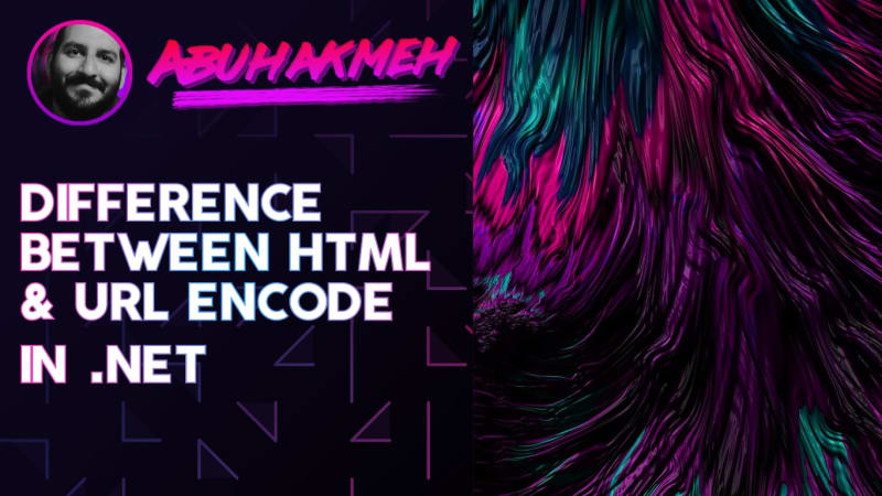 The Difference Between HTML and URL Encode In .NET