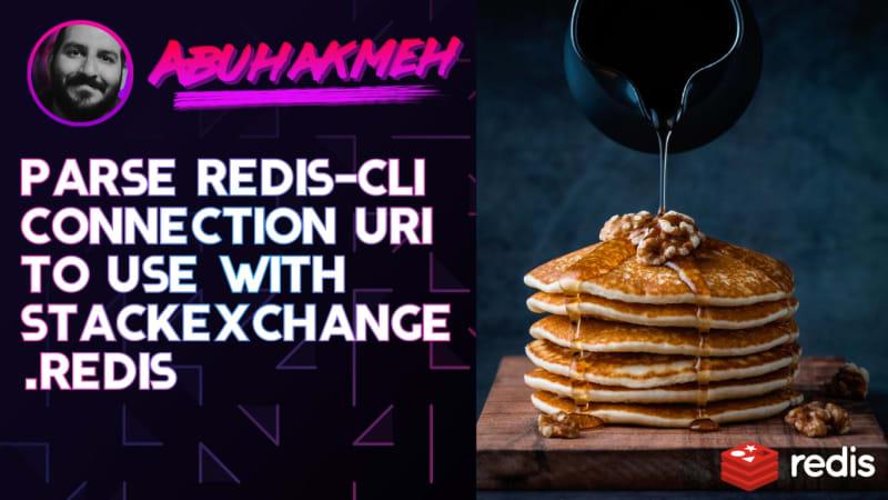 Parse Redis-CLI Connection URI To Use With StackExchange.Redis