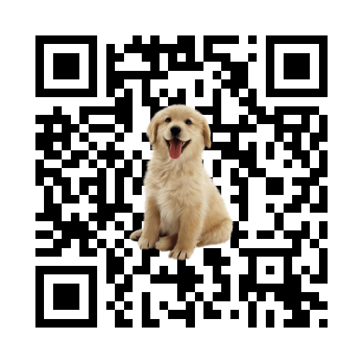 qr code this website with puppy