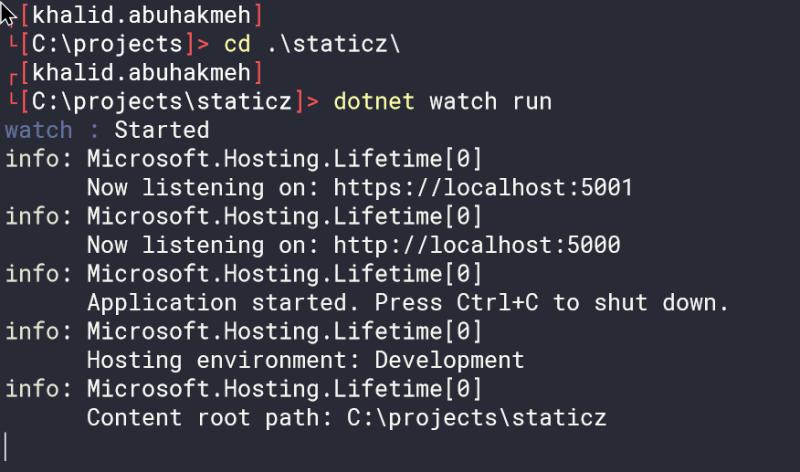 dotnet watch run first time