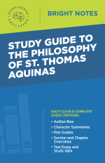 Bright Notes cover image for a Study Guide to the Philosophy of St. Thomas Aquinas