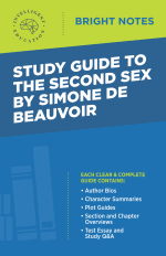 Bright Notes cover image for a Study Guide to the Second Sex by Simone de Beauvoir