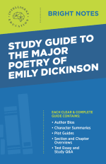 Bright Notes Cover for Major Poetry of Emily Dickinson