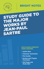 Bright Notes Cover for The Major Works of Jean-Paul Sartre