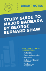 Bright Notes Cover for Major Barbara