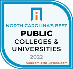 North Carolina's Best Public Colleges 2021 badge