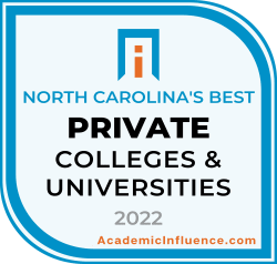 North Carolina's Best Private Colleges and Universities 2021 badge