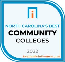 North Carolina's Best Community Colleges 2021 badge