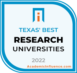 Texas's Best Colleges and Universities 2021 badge