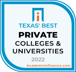 Texas's Best Private Colleges and Universities 2021 badge