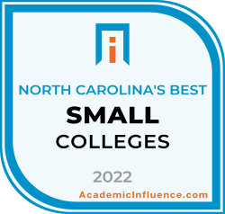 North Carolina's Best Small Colleges and Universities 2021 badge