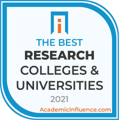 Badge for the Best Research Colleges and Universities