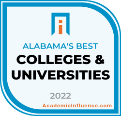 Alabama's Best Colleges and Universities 2021 badge
