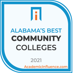 Alabama's Best Community Colleges 2021 badge