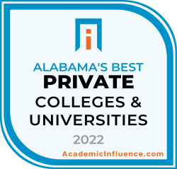 Alabama's Best Private Colleges and Universities 2021 badge
