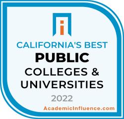 California's Best Public Colleges 2021 badge