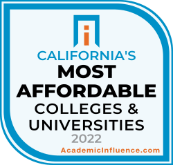 California's Most Affordable Colleges and Universities 2021 badge