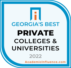 Georgia's Best Private Colleges and Universities 2021 badge