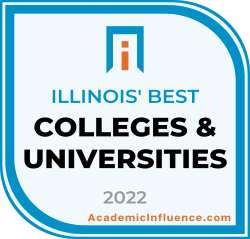Illinois's Best Colleges and Universities 2021 badge