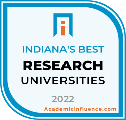 Indiana's Best Colleges and Universities 2021 badge