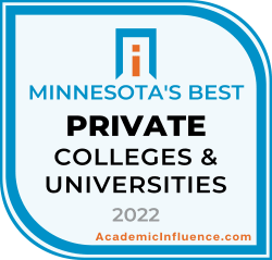 Minnesota's Best Private Colleges and Universities 2021 badge