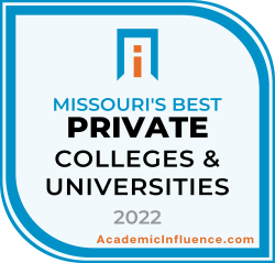 Missouri's Best Private Colleges and Universities 2021 badge
