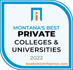 Montana's Best Private Colleges and Universities 2021 badge