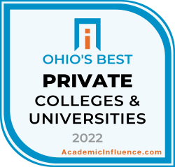 Ohio's Best Private Colleges and Universities 2021 badge