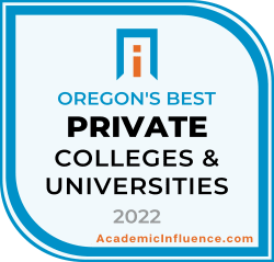 Oregon's Best Private Colleges and Universities 2021 badge